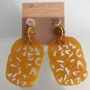 KENNETH JAY LANE COUTURE Gold Plated Drop Earrings
